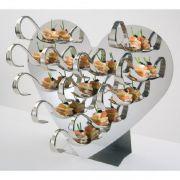 12428 Стойка буфетная Сердце в наборе (1 стойка, 12 ложек, 20 шпажек) APS