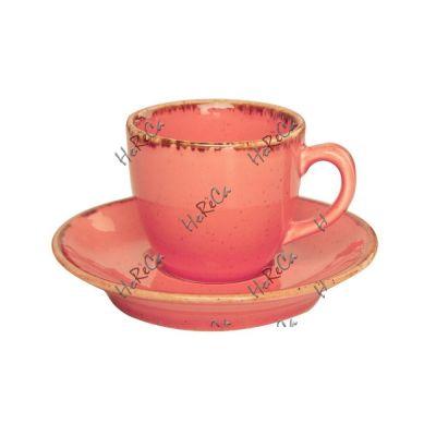 212109O Набор чашка кофейная 80 мл+блюдце 12 см Porland (Порланд) Seasons Оранж