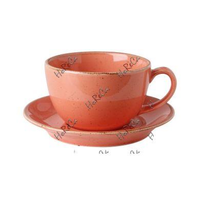 222134O Набор чашка чайная 320 мл+блюдце 15 см Porland (Порланд) Seasons Оранж