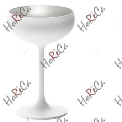 2738708 Stoelzle Olympic бокал для шампанского матовый-белый/серебряный 230 мл, h-147 мм, d-95 мм.