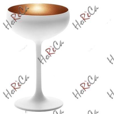 2738808 Stoelzle Olympic бокал для шампанского матовый-белый/бронзовый 230 мл, h-147 мм, d-95 мм.