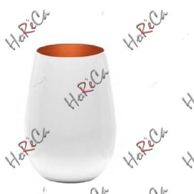 3529112 Stoelzle Olympic стакан глянцевый-белый/бронзовый 465 мл, h-120 мм, d-85 мм.
