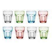 418940 Стакан низкий 270 мл серия Rock bar ICE цвет голубой Bormioli Rocco 418940B03321990