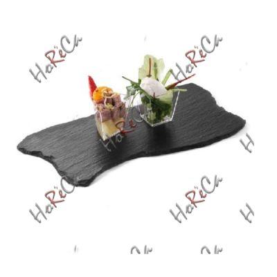 424711 Блюдо сланцевое волнистое 200x100x(H)5 мм, набор из 2 шт. Цена за 1 шт, Hendi