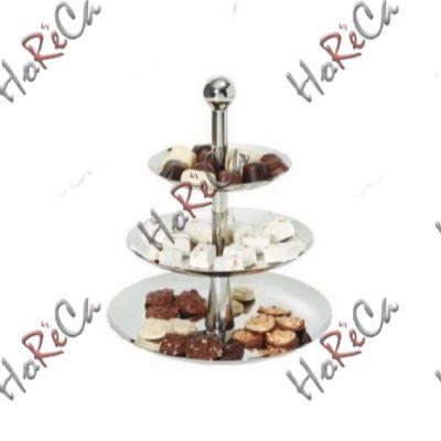 Этажерка для пирожных 3-х ярусная, складная Hendi, Ø268/220/166*(Н)320мм артикул 429914