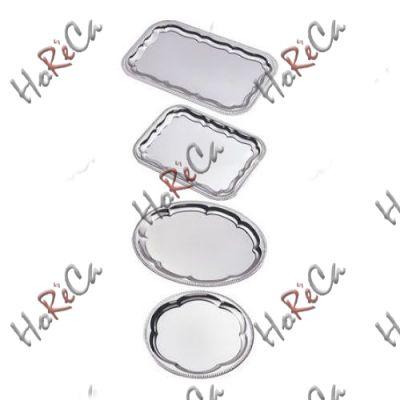 Поднос сервировочный декорированный овальный Hendi 455*340мм артикул 496206