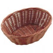 530014 Корзинка для хлеба Forest, кошик овальний 23х15х6,5 см, темно-коричневий
