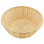 530025 Корзинка для хлеба Forest, кошик круглий 23х7 см, світло-коричневий