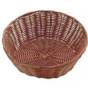 530026 Корзинка для хлеба Forest, кошик круглий 23х7 см, темно-коричневий