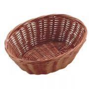 531014 Корзинка для хлеба Forest, кошик овальний 23х15х6,5 см, темно-коричневий