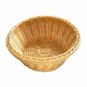 531021 Корзинка для хлеба Forest, кошик круглий 18х7 см, світло-коричневий