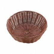 531022 Корзинка для хлеба Forest, кошик круглий 18х7 см, темно-коричневий