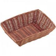 531042 Корзинка для хлеба Forest, кошик прямокутний 23х15х7 см, темно-коричневий