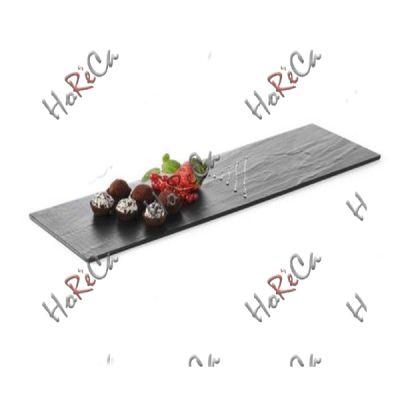 561393 Доска сервировочная из меламина -имитация сланца - прямоугольная 525x160x(H)7 мм. производитель Hendi