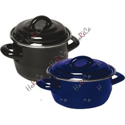 Кастрюля эмал. для супов и соусов цвет синий Hendi Ø100*60 / 0,4л артикул625804