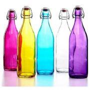 666260-484 Бутылка с крышкой 1 л в ассортименте разных цветов серия Giara Bormioli Rocco
