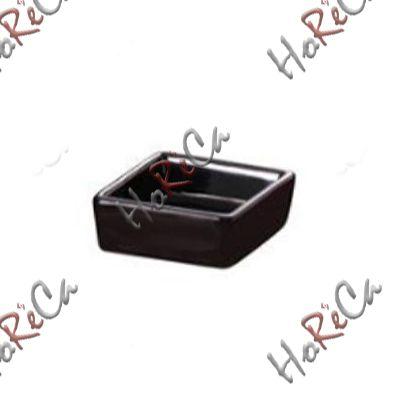 754089 Салатник квадратный 6,5 см, 50 мл  Forest черный серия Fudo