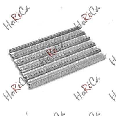 Противень для багетов- 5 углублений, 600x400 мм,  алюминий, перфорированный, Hendi арт 808238