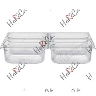 Гастроемкость GN 1/4 из поликарбоната производитель Hendi 1,8л / 265*162*(H)65мм артикул 861639