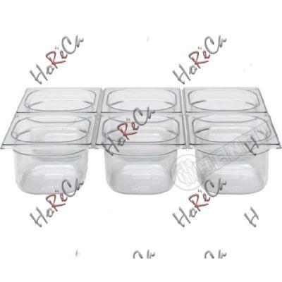 Гастроемкость GN 1/6 из поликарбоната Hendi 1,6л / 176*162*(H)100мм арт 861721