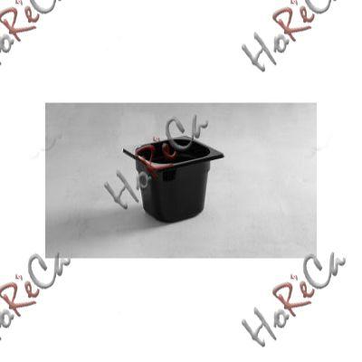Гастроемкость из черного поликарбоната GN 1/6 Hendi 176*162*(Н)65мм арт 862735
