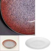 Цветной фарфор Фарн серия Коралл Siesta 9043ST, тарелка мелкая баз борта210мм, уп 12 шт.