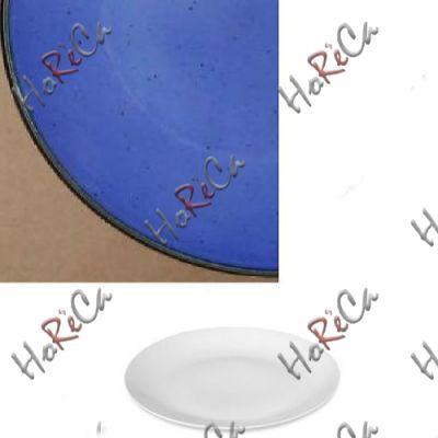 Цветной фарфор Фарн серия Синий Siesta 9061ST тарелка мелкая баз борта 310мм Farn, уп 3 шт.