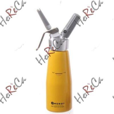 975855 Сифон для взбивания сливок, Hendi 0,5л /диаметр 80*(Н)270мм желтый