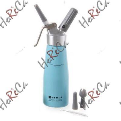 975862 Сифон для взбивания сливок, Hendi 0,5л /диаметр 80*(Н)270мм, голубой