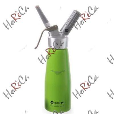 975879 Сифон для взбивания сливок, Hendi 0,5л /диаметр 80*(Н)270мм, зеленый