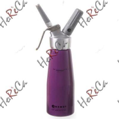 975886 Сифон для взбивания сливок, Hendi 0,5л /диаметр 80*(Н)270мм фиолетовый