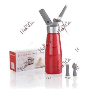 975916 Сифон для взбивания сливок, Hendi 0,5л /диаметр 80(Н)270мм, красный
