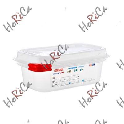 03020 Емкость для хранения с крышкой 1/9 - 176х108х65 мм из поли