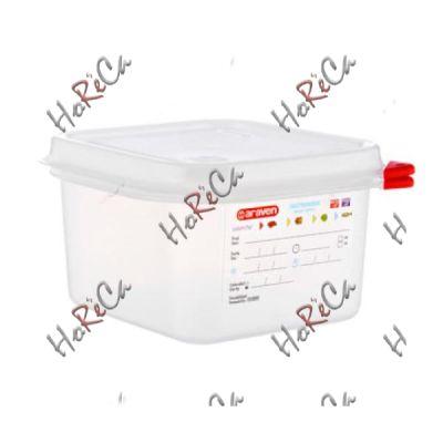 03024 Емкость для хранения с крышкой 1/6 - 176х162х100 мм полипр