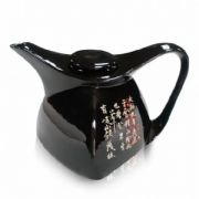 AA141961-E Чайник стеклянный Тумбей черный 1750 мл.