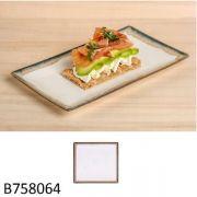 Тарелка квадратная 24х24х2,5 см, бежево-коричневая Ming ІІ-QUAY, арт В758064 Viejo Valle