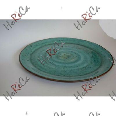C-11505 Тарелка без борта 21 см бирюзовая Alt ceramics, минимальный заказ 6шт.