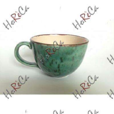C-11575-2 Чашка 225мл бирюзовая Alt ceramics, минимальный заказ 6шт.