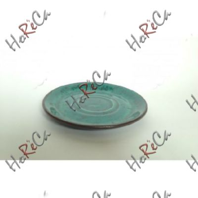 C-11579-1 Блюдце 16 см к чашке на 350 мл бирюзовое Alt ceramics, минимальный заказ 6шт.