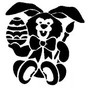 CON 17 Трафарет для торта Кролик с яйцом Martellato