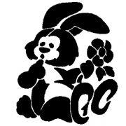 CON 8 Трафарет для торта Кролик с цветком Martellato