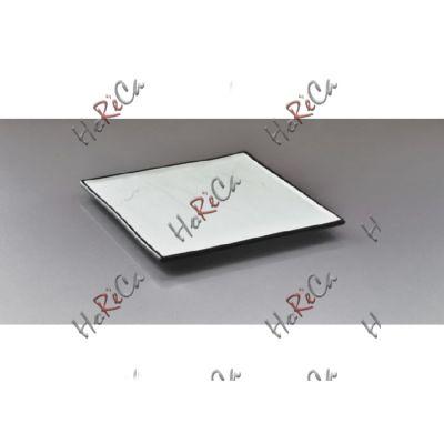 Alt porcelain тарелка квадратная с черными краями 12 дюймов (30см) F2934BY-12W