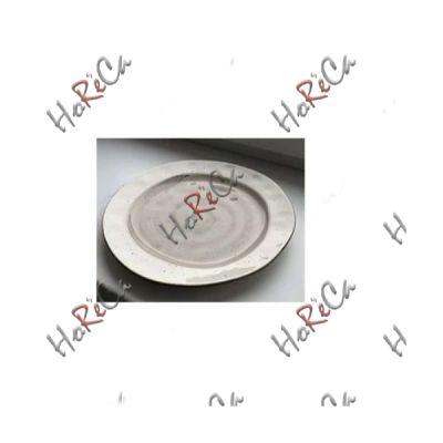 FB3703LG-10CS Тарелка мелкая 10 дюймов (25см) светло-серая, цветной фарфор серия Country