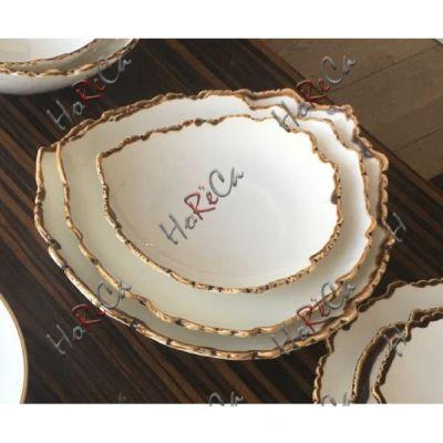 """FC0050-8 Тарелка треугольная 8"""" 20.3см, 100 мл серия Oasis (Оазис) Alt Porcelain"""