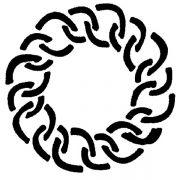MASK 30 Трафарет для торта Веночок Martellato