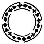 MASK 35 Трафарет для торта Круг-карти Martellato