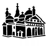 MASK 45 Трафарет для торта Церковь Martellato