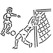 MASK 76 Трафарет для торта Футбол Martellato
