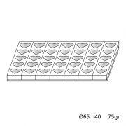 MONOP C007 Форма для бисквита 600х400 мм 35 шт. Сердце, d 65 mm, h 40 mm, 75 g производитель Martellato