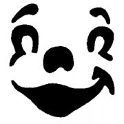 MS 18 Трафарет для капучино улыбка Martellato